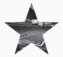 Dallas Cowboys Stadium Black and White T-Shirt