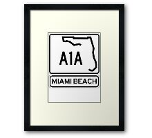 A1A - Miami Beach Framed Print