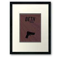 Orphan Black minimalist - Beth Childs Framed Print