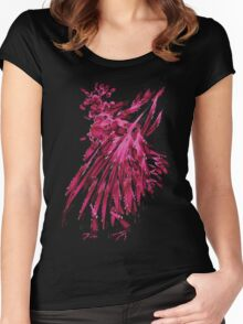watercolor rooster Women's Fitted Scoop T-Shirt