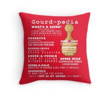 Gourd-pedia What's a Gourd Totes and Pillows Color 3 Throw Pillow