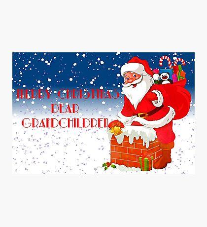 Grand-Children Christmas Card Photographic Print
