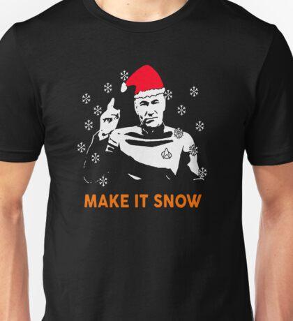 Star Data Trek Make it Snow Unisex T-Shirt