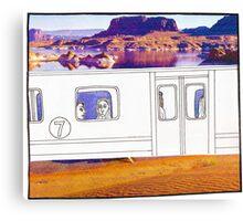 Desert Train Canvas Print