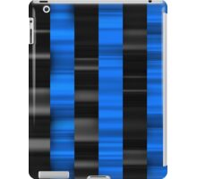 Cool stripes BLACK AND BLUE iPad Case/Skin