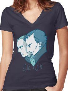 Duo of 221B Baker Street Women's Fitted V-Neck T-Shirt