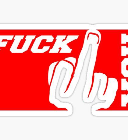 rot mittelfinger sport farben stinkefinger zeigen symbol fuck you off logo design cool beleidigung schimpfwort fick dich böse  Sticker