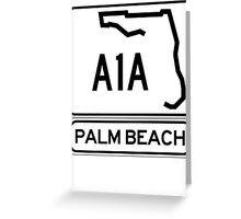 A1A - Palm Beach Greeting Card
