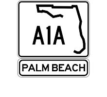 A1A - Palm Beach Photographic Print