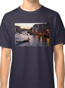 Venetian Impressions - Grand Canal Busy Traffic in Purple and Gold Classic T-Shirt