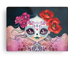 Amelia Calavera - Sugar Skull Metal Print