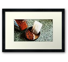 drugs of choice Framed Print