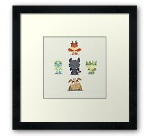 Baby Dragons How To Train Your Dragon 2 Framed Print