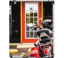Motorcycle and a Clear Fall Day iPad Case/Skin