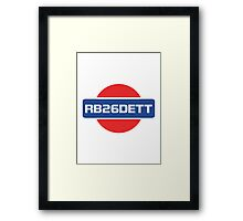 RB26DETT Nissan Engine Framed Print