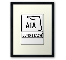 A1A - Juno Beach Framed Print