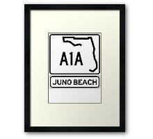 A1A - Juno Beach Framed Print
