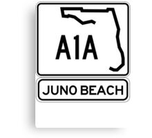 A1A - Juno Beach Canvas Print