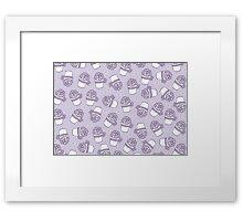 Grape dessert Framed Print