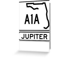 A1A - Jupiter Greeting Card
