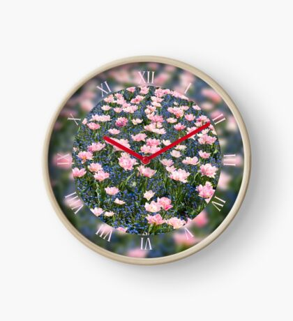 Pink Foxtrot tulips bloom Clock
