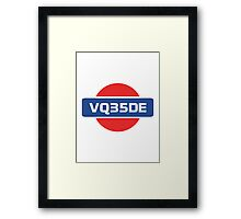 VQ35DE Nissan Engine Framed Print