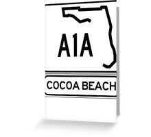A1A - Cocoa Beach Greeting Card