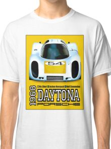 PORSCHE; Vintage Grand Prix Auto Racing Print Classic T-Shirt