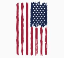 American Flag painted style Kids Tee
