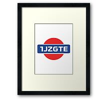 1JZGTE Nissan Engine Swap Framed Print