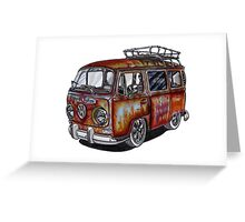 VW Type 2 Bay Window - Rust Series - Jules Greeting Card
