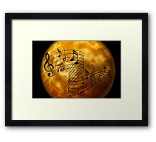 music notes moon Framed Print