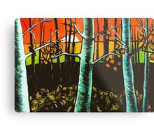 Orange Sky Through the Trees Metal Print