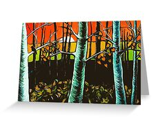 Orange Sky Through the Trees Greeting Card