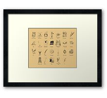 The Wizarding ABC Framed Print