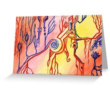 Abstract Universe in Miniature Greeting Card