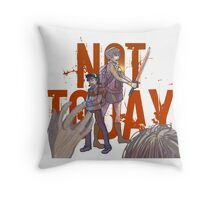 What do we say to death? Throw Pillow