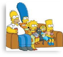 Simpsons Family Canvas Print