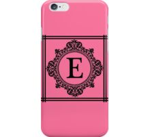 Hot Pink and Black Monogram E iPhone Case/Skin