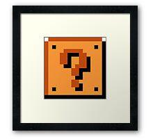 8 bit Mario Block Framed Print