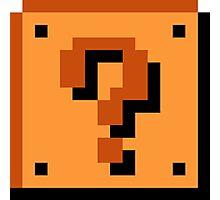8 bit Mario Block Photographic Print