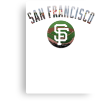 San Francisco Giants Stadium Color Canvas Print