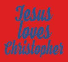 Jesus loves christipher One Piece - Short Sleeve