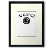 San Francisco Giants Stadium Black and White Framed Print