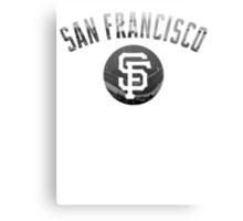 San Francisco Giants Stadium Black and White Canvas Print