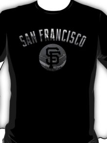 San Francisco Giants Stadium Black and White T-Shirt