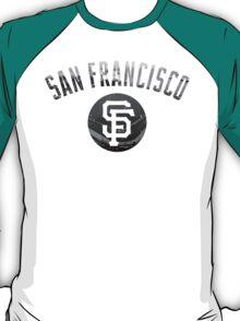 San Francisco Giants Stadium Black and White T-Shirt