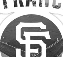 San Francisco Giants Stadium Black and White Sticker