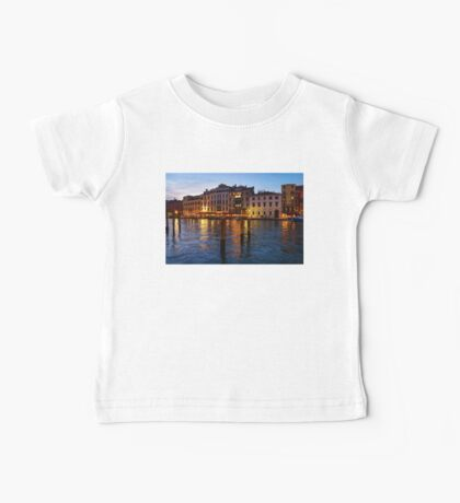 Venetian Impressions - Blue Hour Along the Grand Canal  Baby Tee