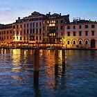 Venetian Impressions - Blue Hour Along the Grand Canal  by Georgia Mizuleva